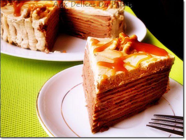 Gâteau de Crêpes au Chocolat Caramel Beurre Salé · Aux ...