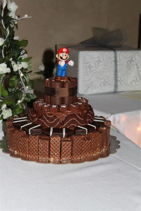 Grooms cake with Little Debbie snack cakes and Mario