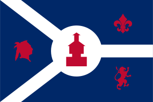 Flag of Fort Wayne, Indiana, United States