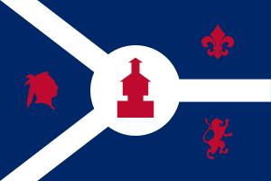 Flag of Fort Wayne, Indiana, United States
