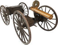 Other Hand Weapons, U.S. Model 1883 Colt Gatling Gun and Rare Limber WithAccessories....