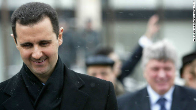 Syrian President Bashar al-Assad is shown during a visit to Moscow on January 25, 2005.
