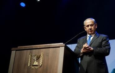 Prime Minister Binyamin Netanyahu at the Jewish Federations of North America General Assembly.