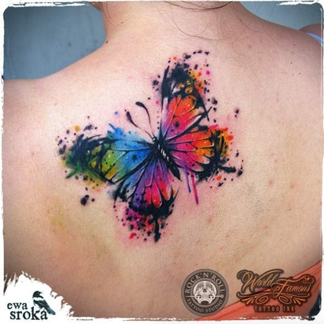 Watercolor Butterfly Tattoo At Getdrawingscom Free For Personal