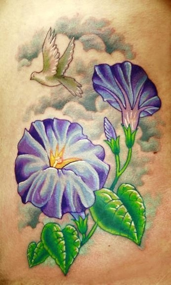 Amazing Morning Glory Tattoo Design Design Of Tattoosdesign Of Tattoos