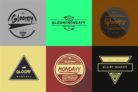 tutorial membuat logo keren gloomy mondayy