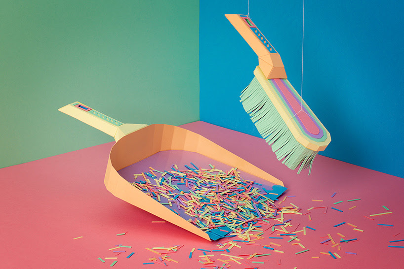 zim zou papercraft designboom