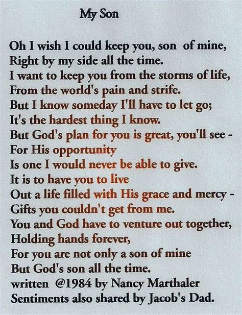 Mother and Son Quotes & Love Son Sayings from Mom