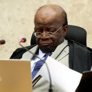 O ministro Joaquim Barbosa, presidente do STF (Supremo Tribunal Federal), durante sessão do julgamento do mensalão no último dia 21