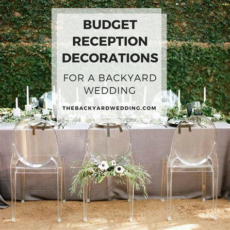 Budget backyard reception decorations   The Backyard Wedding