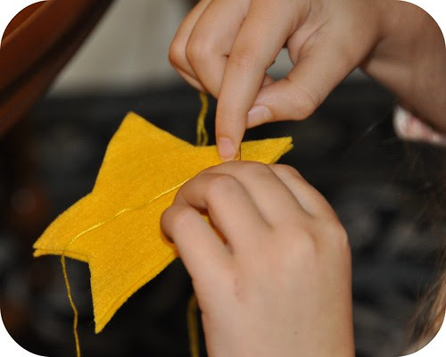 Felt Star for Advent