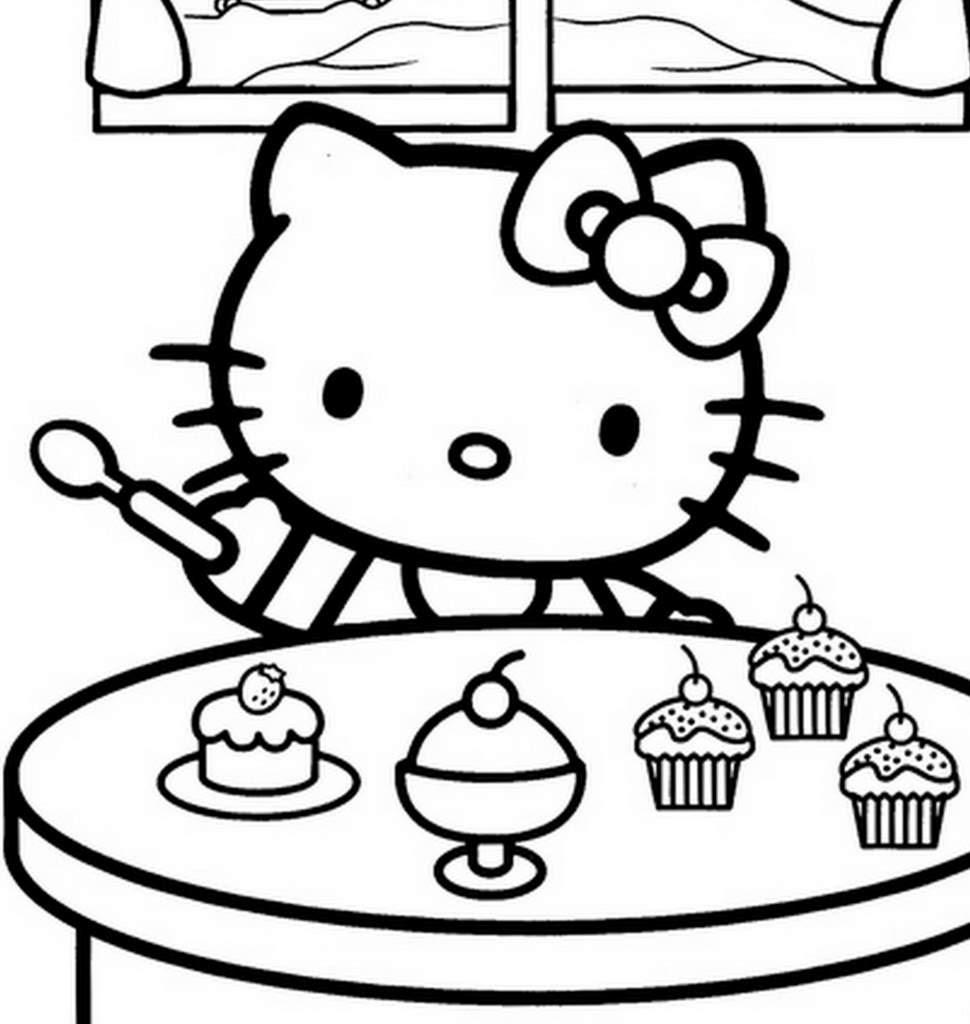 Coloriage hello kitty gratuit dessin a imprimer 280