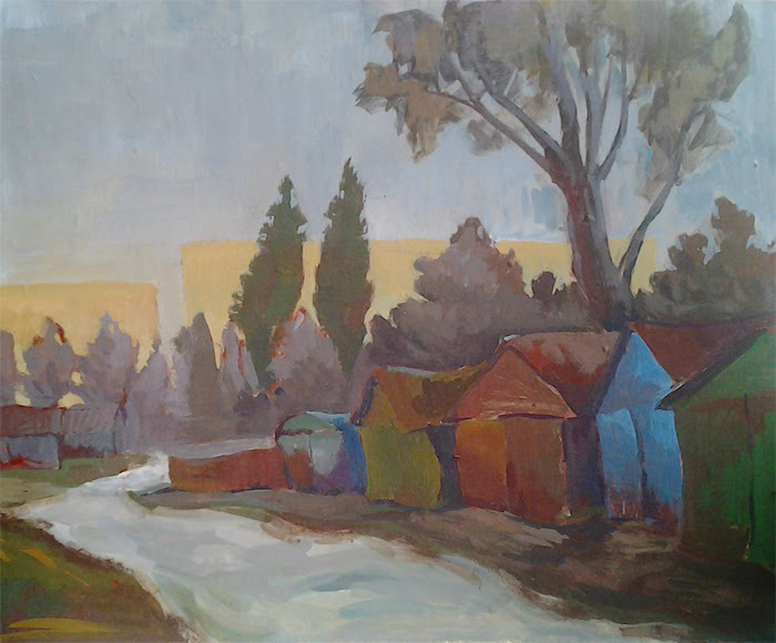 Old road and garages by Gregory Avoyan