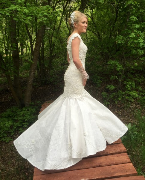 Toilet paper wedding dress contest features feathers ...