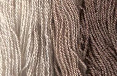 4 fawn Shetland yarns.