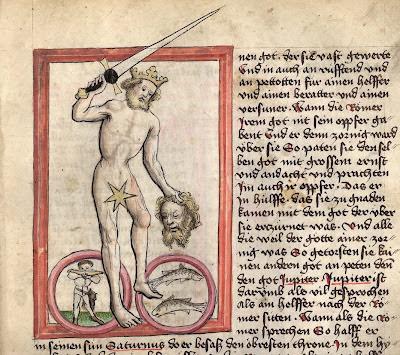 Jupiter with man's severed head