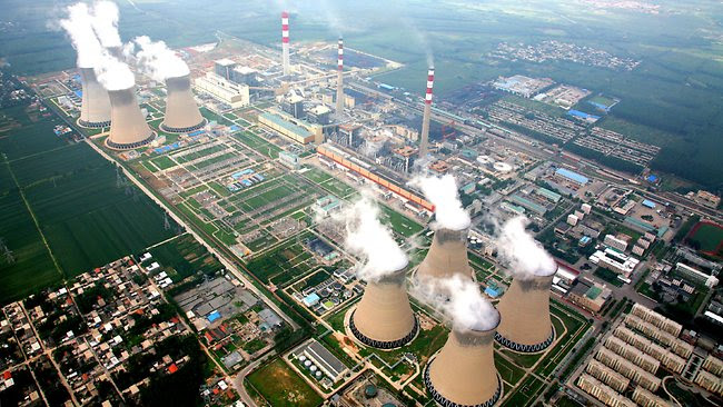 China's biggest coal fired power station in Zouxian, Shandong