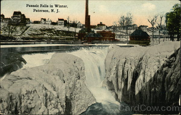 Passaic Falls in Winter Paterson New Jersey
