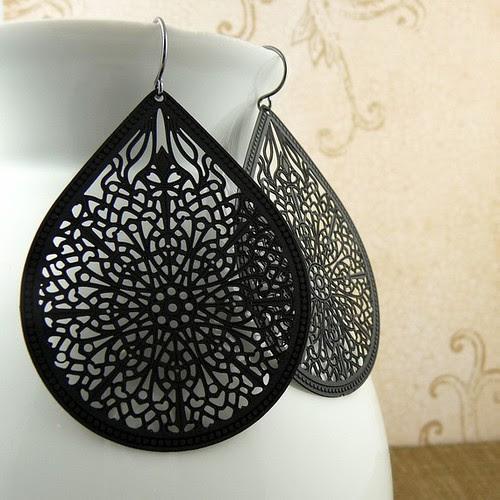 Black Earrings 1