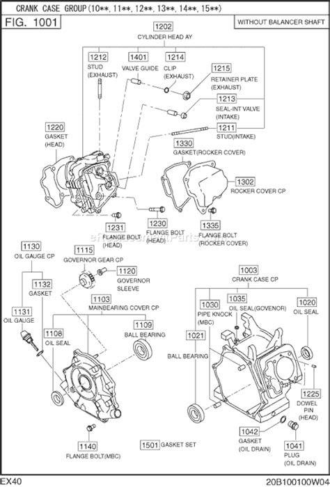 Subaru / Robin EX400SE5220 Parts List and Diagram