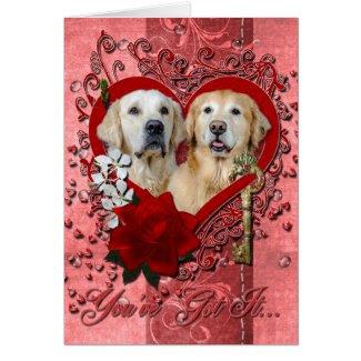 Valentines - Key to My Heart - Goldens - Corona Te Cards
