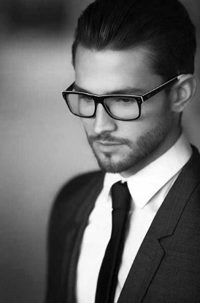 Elegante Moderne Herren Haare Mit Brille Kunstopde