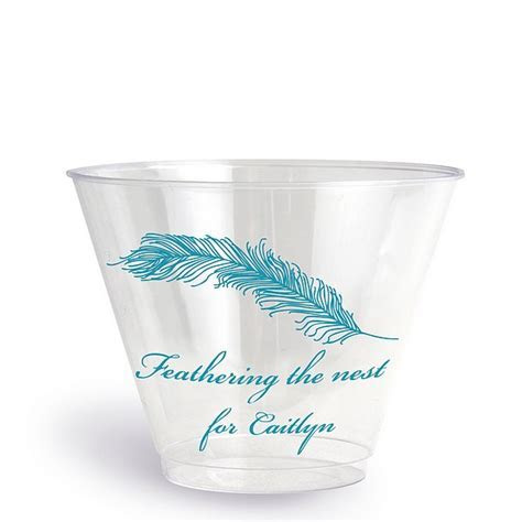 Clear Plastic Disposable Baby Shower Cups   9 Oz