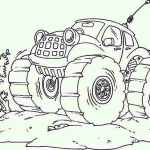 Monster Mutt Rottweiler Monster Truck Coloring Page ...