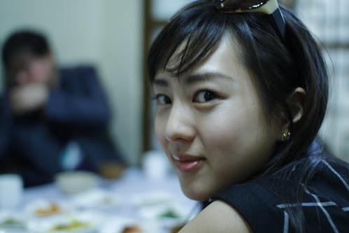 Kiki at Bibimbap brunch in Jeonju
