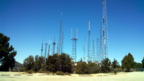 A photo I took of the 'antenna farm' near Mount Wilson Observatory...on March 24, 2016.