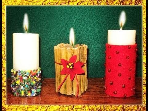 Mi gu a de manualidades adornos de navidad con velas decoradas - Velas decoradas para navidad ...