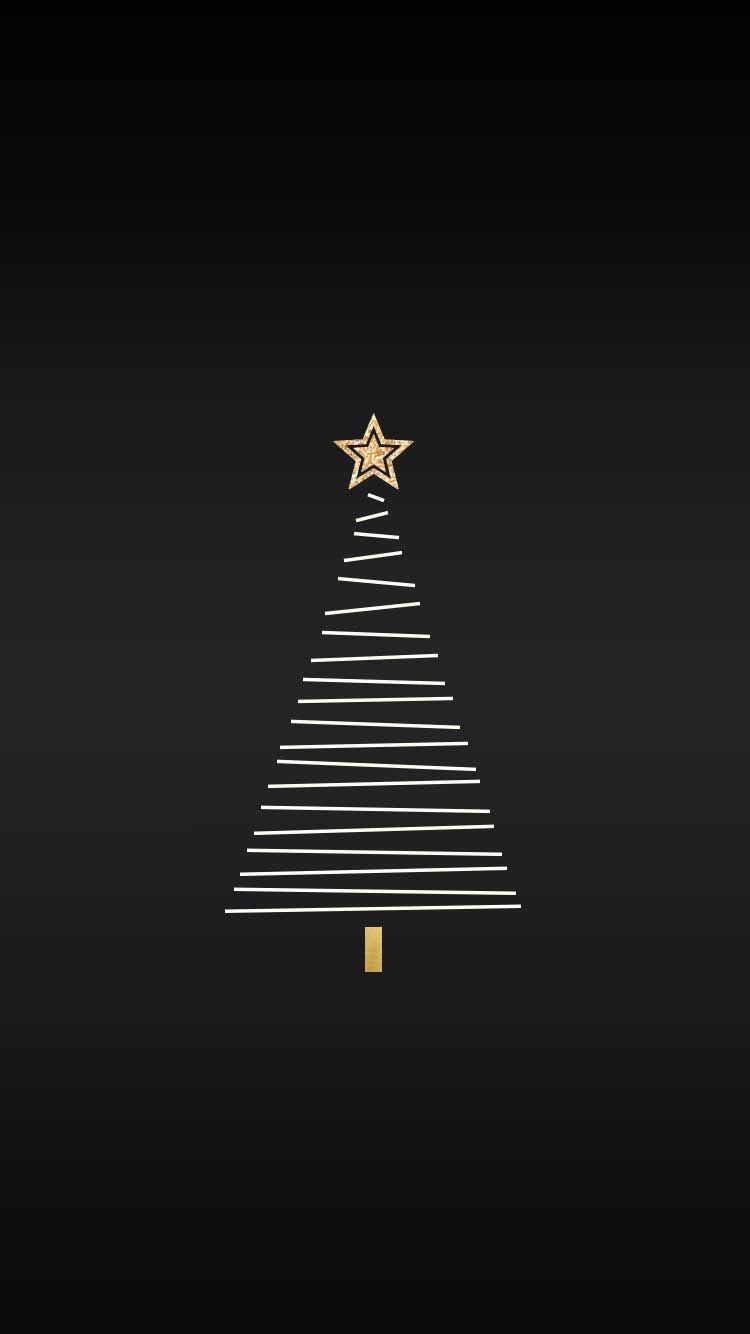 クリスマス シンプルブラッククリスマス めちゃ人気 Iphone壁紙dj