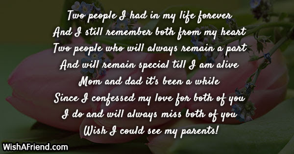 Missing You Messages For Parents