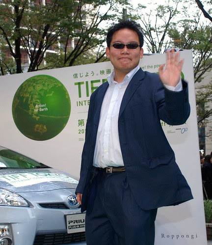 Walking the green carpet at Tokyo International Film Festival 2011