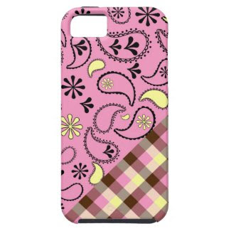 Pink Paisley Plaid Iphone 5 Case