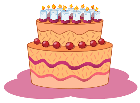 Birthdaycake With Candles Clipart Images Cake And