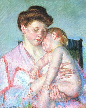 Mary Cassatt Sleepy Baby 1910