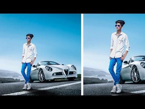 PHOTOSHOP CAR AND BOY PHOTO MANIPULATION TUTORIAL WITH FERRARI