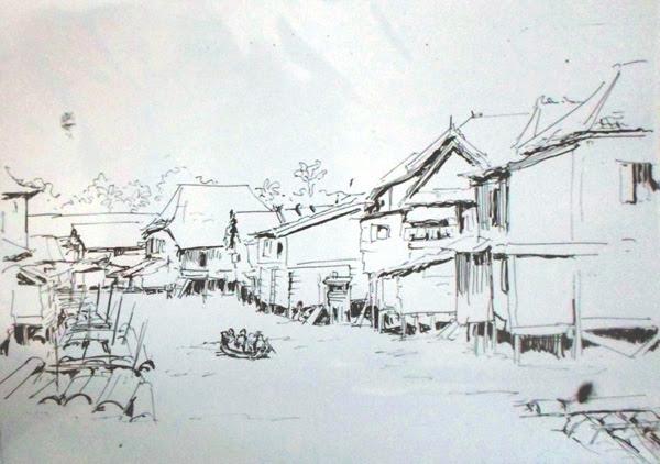 Wah Ada Jejak Anak Sungai Musi Di Lukisan Sketsa Usa Kishmada