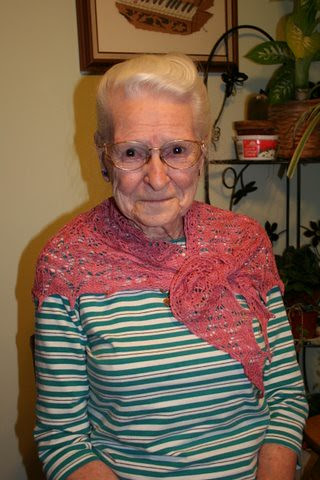 Grammy with Flower Basket Shawl