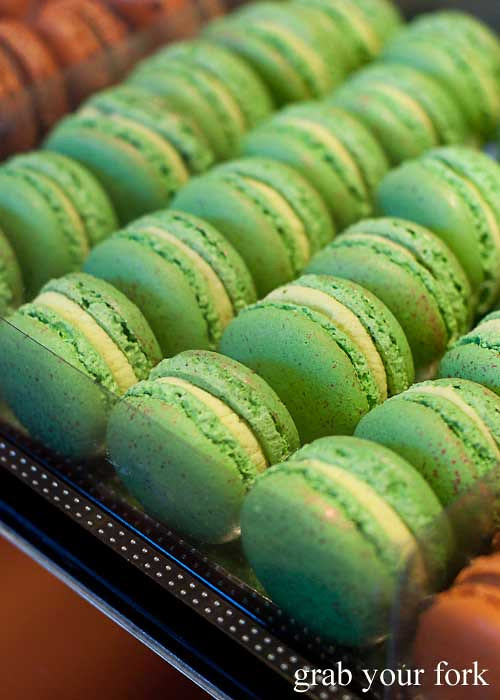 Extra virgin olive oil macarons