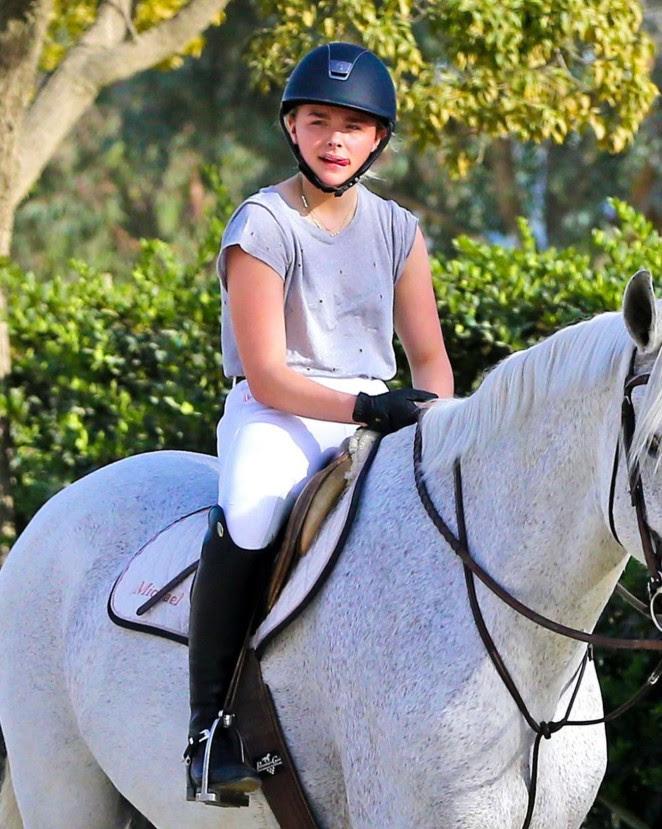Chloe Moretz: Riding a Horse -21