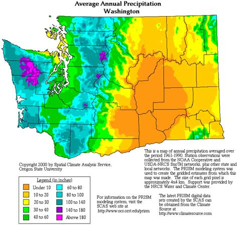 washington precipitation map