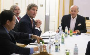 US Secretary of State John Kerry, second right, US …