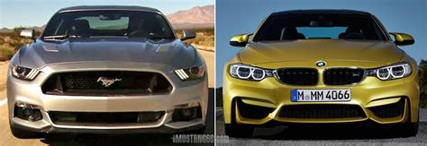 mustang gt   bmw  comparison