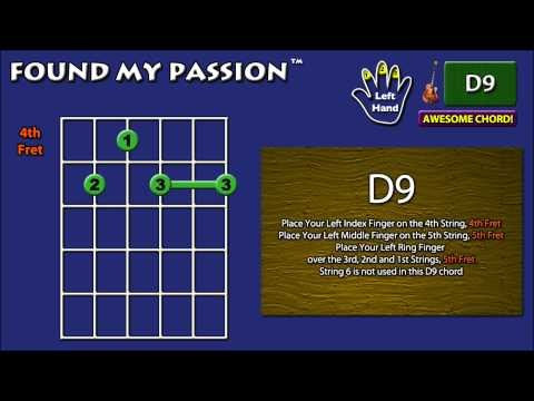 Found My Passion - Guitar: Awesome Chord: D9 [X 5 4 5 5 5]