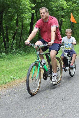 23 biking with dad