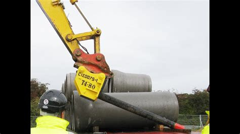 pipe lifter  medium concrete pipes youtube