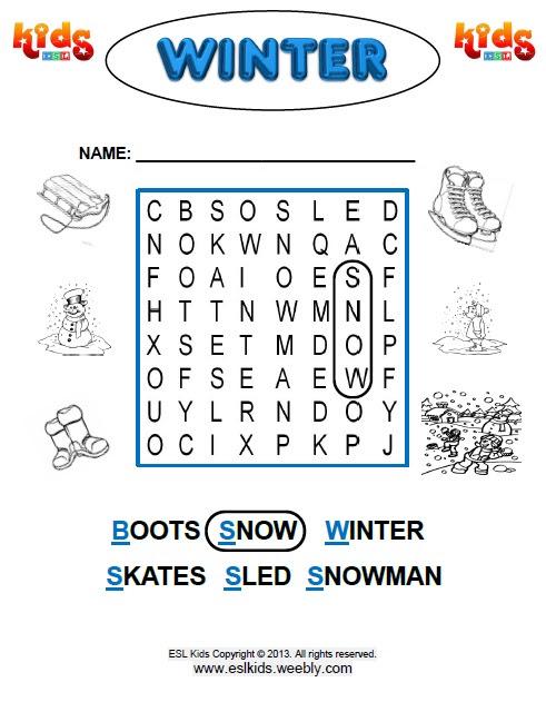 Winter Worksheets For Preschoolers - Bilscreen