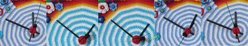 Crochet hour ladybug movement